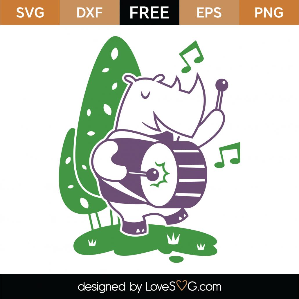 Whimsical Elephant SVG Cut File 9712