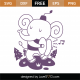 Whimsical Elephant SVG Cut File 9716