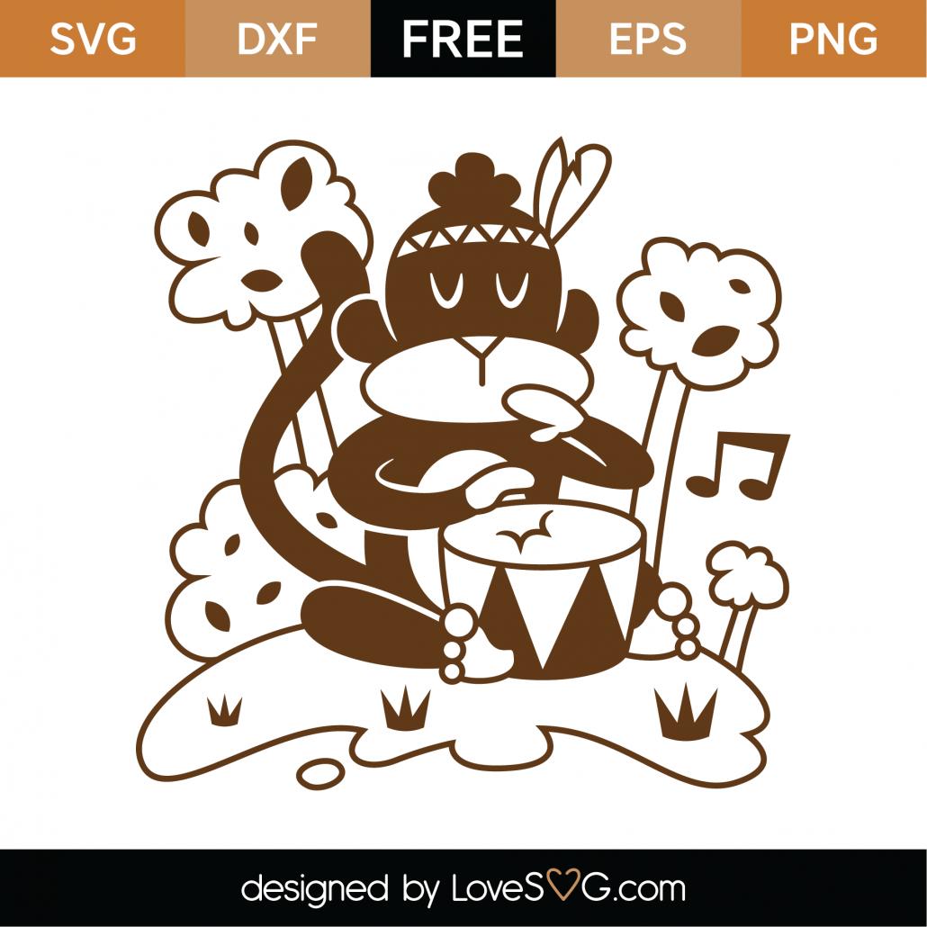 Whimsical Monkey SVG Cut File 9720