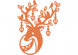 Whimsical Reindeer SVG Cut File 9707