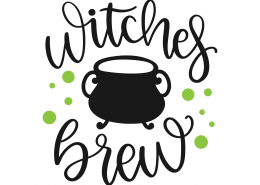 Witches Brew SVG Cut File 9819