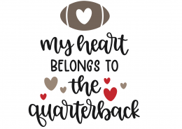My Heart Belongs To The Quarterback SVG Cut File 9831