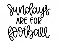 Sundays Are For Football SVG Cut File 9832