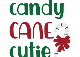 Candy Cane Cutie SVG Cut File 9974