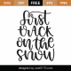 Fast Track On The Snow SVG Cut File 9996