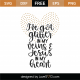 Glitter In My Veins and Jesus In My Heart SVG Cut File 9988