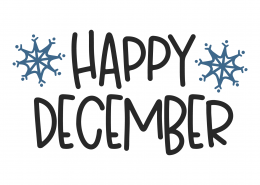 Happy December SVG Cut File 9973