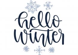 Hello Winter SVG Cut File 9977