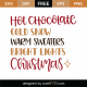 Hot Chocolate Christmas SVG Cut File 10007