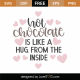 Hot Chocolate Is Like A Hug From The Inside SVG Cut File 9992