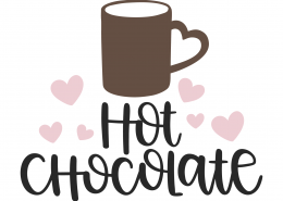 Hot Chocolate SVG Cut File 9967