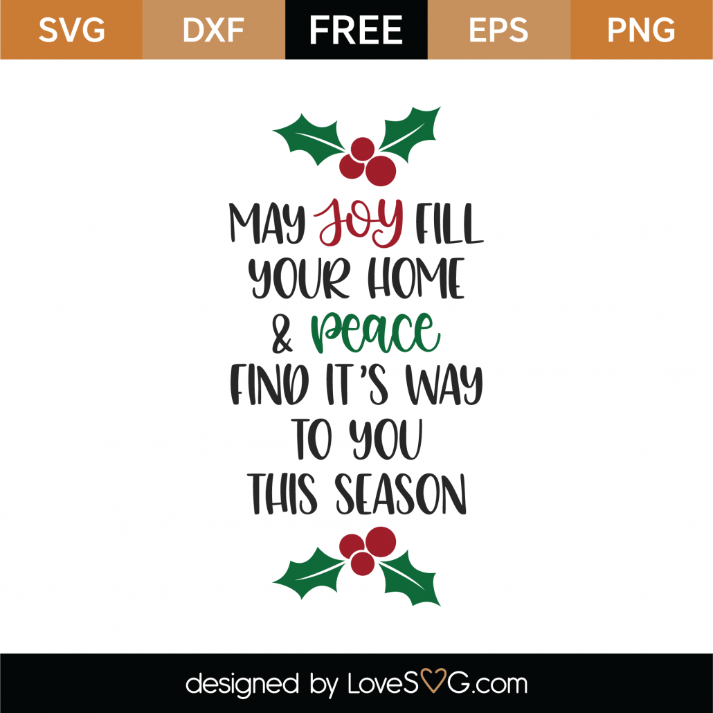 May Joy Fill Your Home SVG Cut File 10002