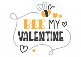 Bee My Valentine SVG Cut File