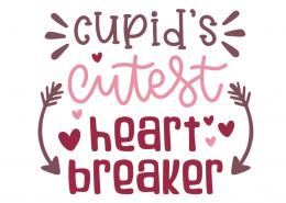 Cupid's Cutest Heart Breaker SVG Cut File