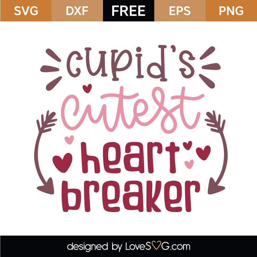Free Cupid S Cutest Heart Breaker Svg Cut File Lovesvg Com