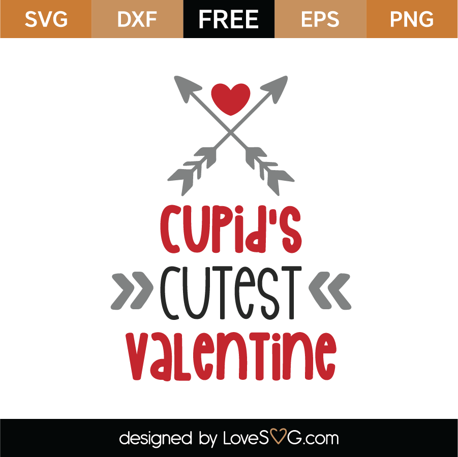 Free Cupid S Cutest Valentine Svg Cut File Lovesvg Com
