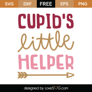 Cupid's Little Helper SVG Cut File