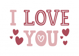 I Love You SVG Cut File