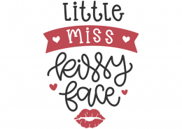 Little Miss Kissy Face SVG Cut File