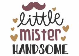 Little Mister Handsome SVG Cut File