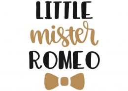 Little Mister Romeo SVG Cut File