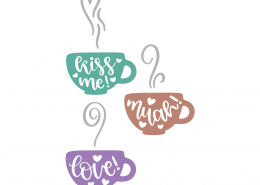 Love Cups SVG Cut File