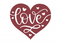 Love Heart SVG Cut File