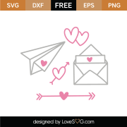 Love Letters SVG Cut File