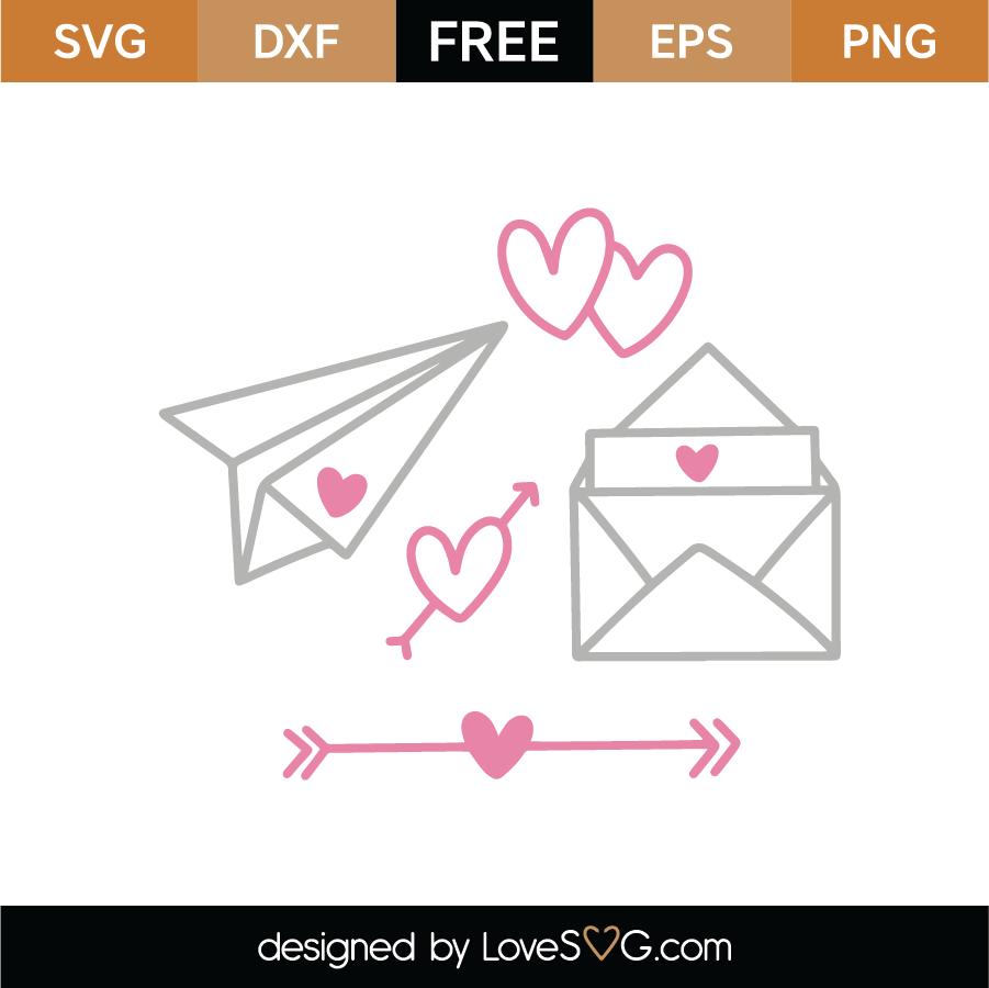 Love Letters SVG Cut File