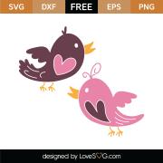 Lovebirds SVG Cut File