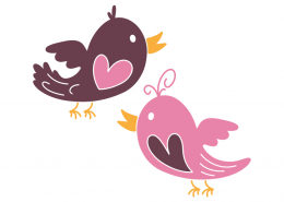 Lovebirds SVG Cut File