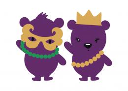 Mardi Gras Bears SVG Cut File