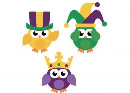 Mardi Gras Birds SVG Cut File