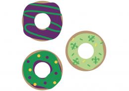 Mardi Gras Cake SVG Cut File
