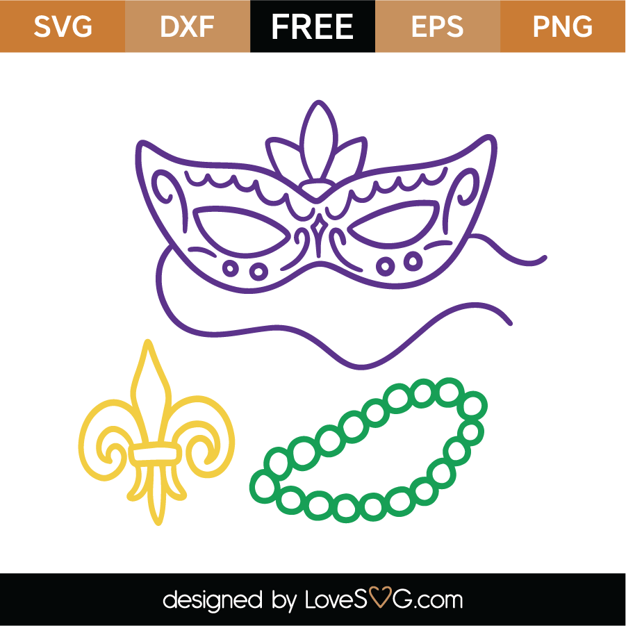 Mardi Gras Elements SVG Cut File