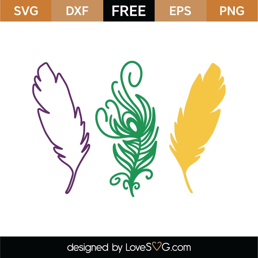Mardi Gras Feathers SVG Cut File