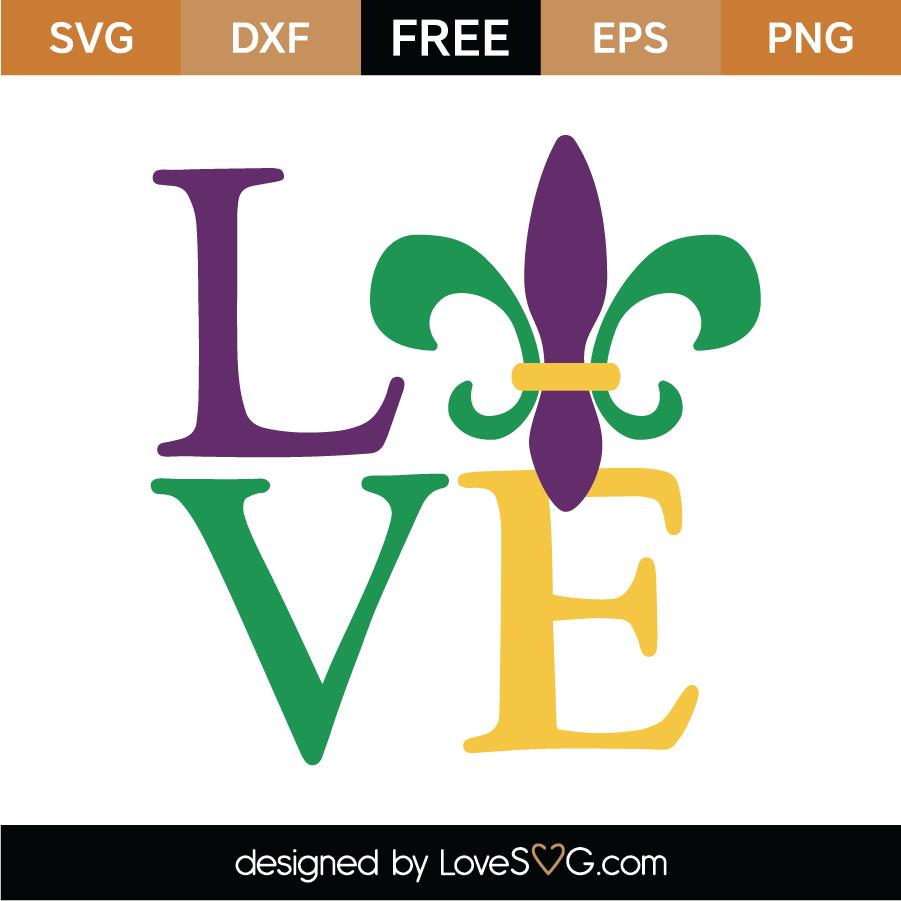 Download Free Mardi Gras Love SVG Cut File   Lovesvg.com
