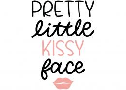 Pretty Little Kissy Face SVG Cut File