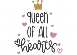 Queen Of All Hearts SVG Cut Files