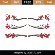 Valentine's Day Border SVG Cut File