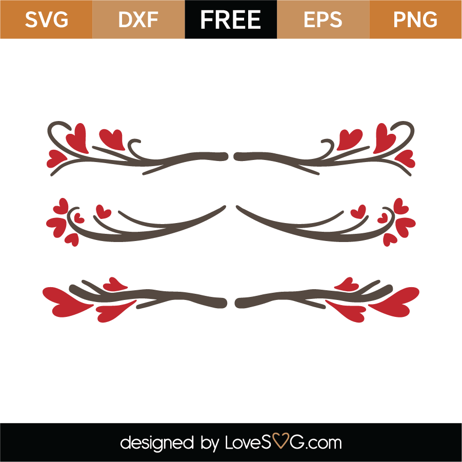 Valentine's Day Border SVG Cut File