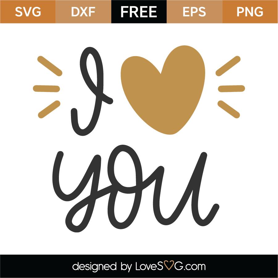 Free I Love You Svg Cut File Lovesvg Com