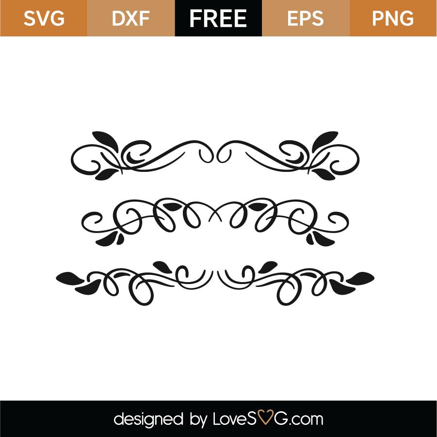 Black Flourish Borders SVG Cut File