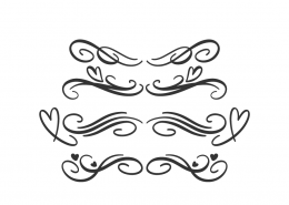 Black Flourish Borders SVG Cut File