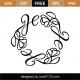 Black Monogram Frame SVG Cut File