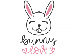 Bunny Love SVG Cut File