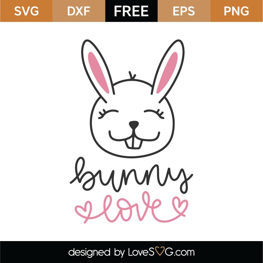 Bunny Love SVG Cut File
