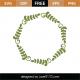 Geometric Wreath SVG Cut File