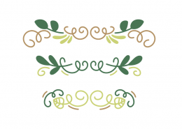 Green Flourish Border SVG Cut File