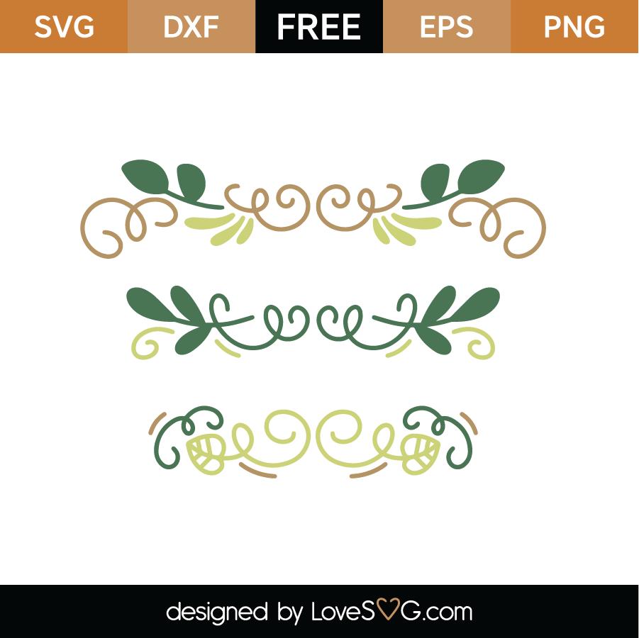 Green Flourish Border SVG Cut File